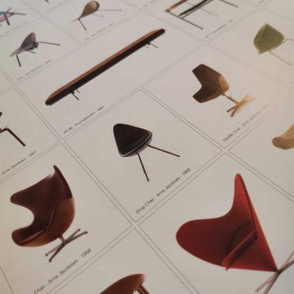 A century of Danish chairs -juliste, Dansk møbelkunst