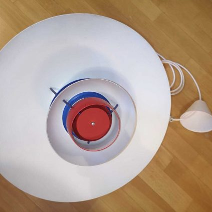 Punainen vintage PH5 riippuvalaisin Orno Louis Poulsen