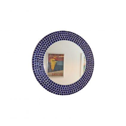 70luvun tanskalainen pyöreä mosaiikkipeili