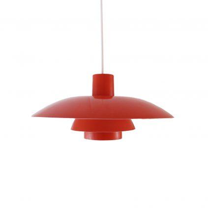 Punainen PH4/3 vintage-riippuvalaisin Louis Poulsen Poul Henningsen