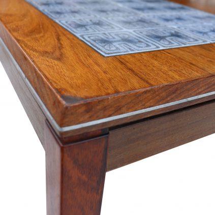 tanskalainen teak sohvapöytä mosaiikkitasolla