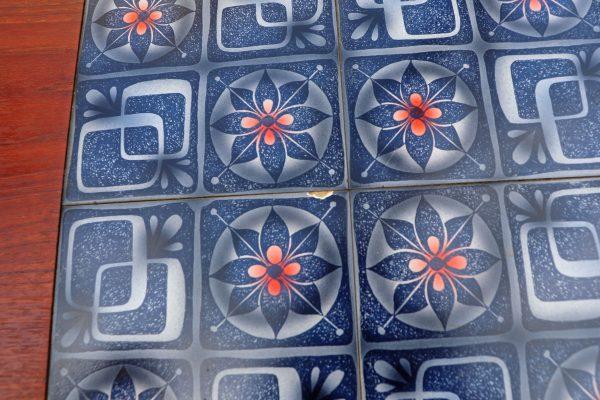 Tanskalainen 60 -luvun sohvapöytä mosaiikkitasolla