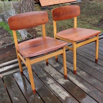 60 luvun teak tuolit Kvetny & Sønners