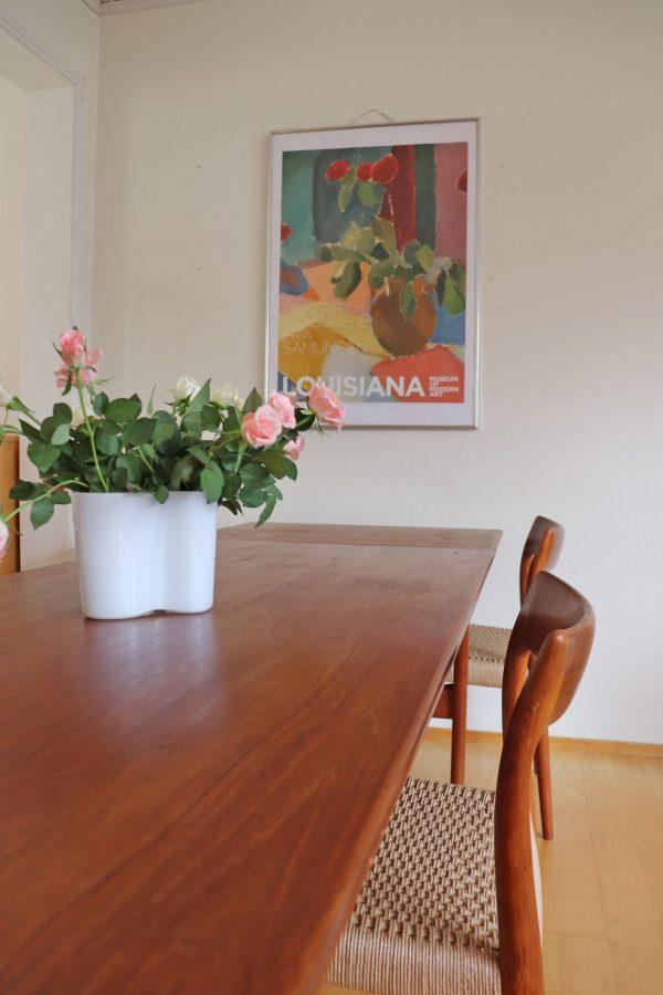 Knud Andersen, JCA Jensen jatkettava tiikki ruokapöytä 60-luvulta