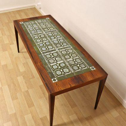 Severin Hansen sohvapöytä Tenera Royal Copenhagen laatoilla, Haslev møbelfabrik