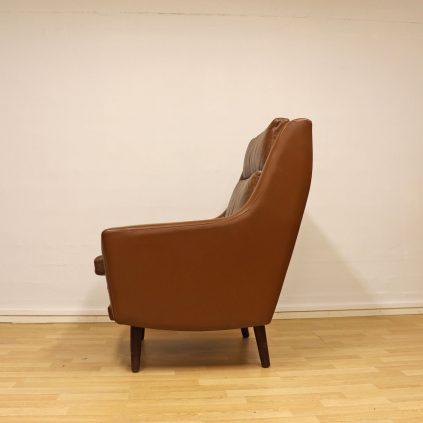 Tanskalainen nahka nojatuoli 60 -luvulta