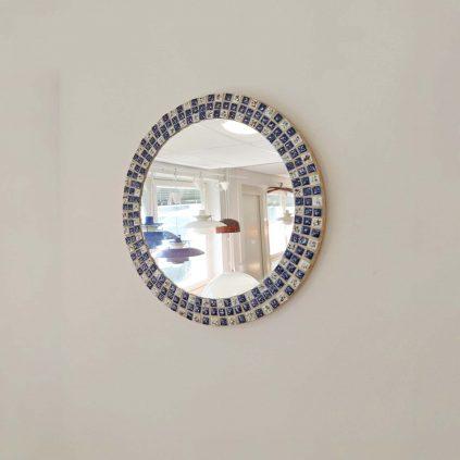 Pyöreä 70luvun mosaiikkipeili