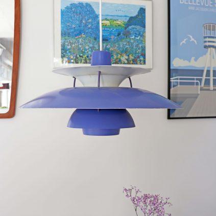 Sininen vintage PH5 riippuvalaisin Poul Henningsen