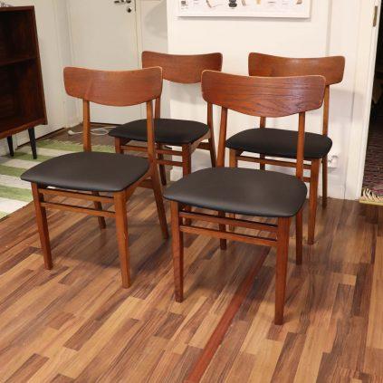 4kpl 60 -luvun tanskalainen ruokapöydän tuoli